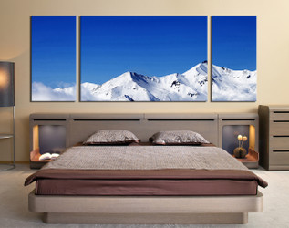 3 piece huge pictures, panoramic photo canvas, bedroom artwork, white snow canvas art prints, landscape wall art