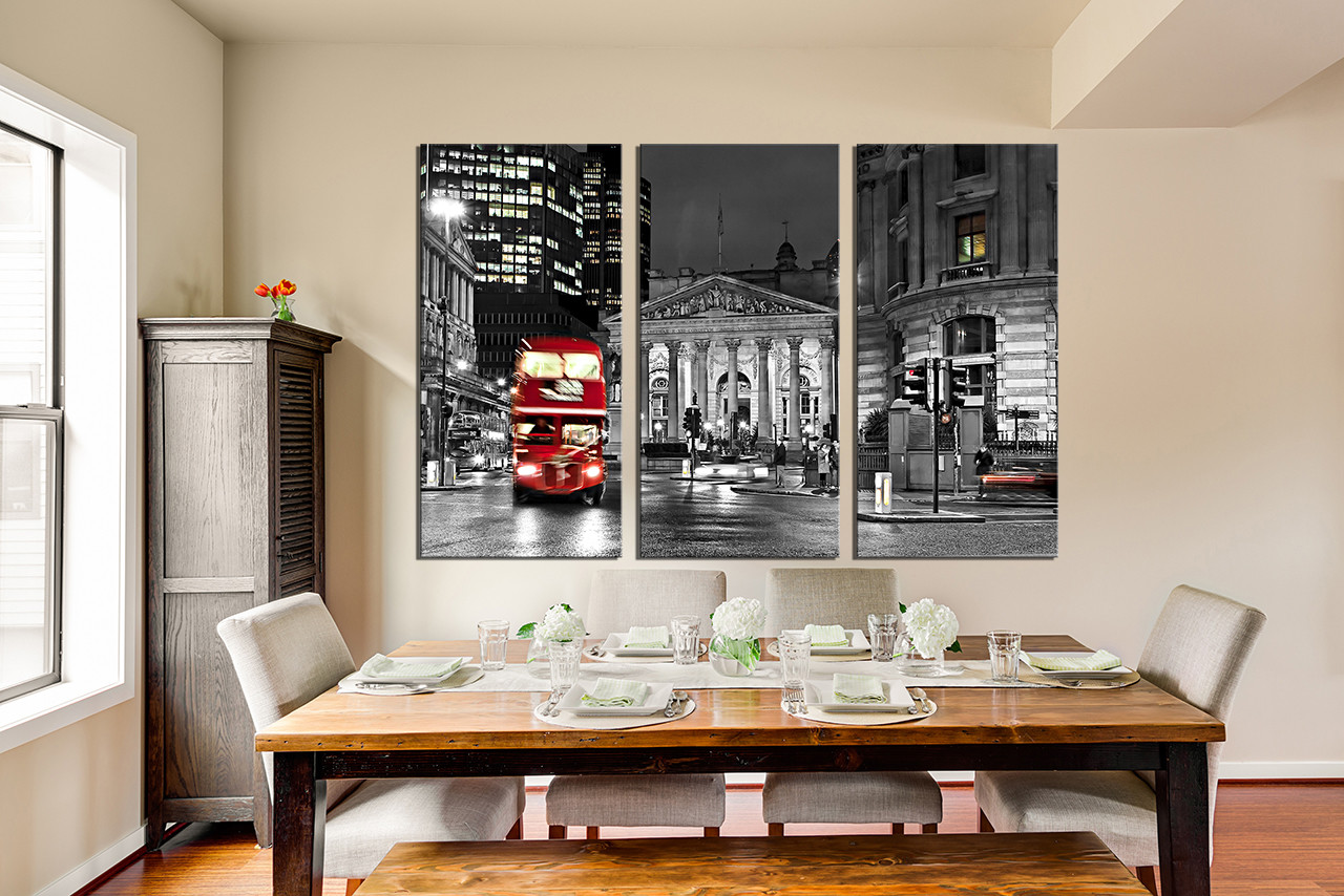 3 Piece Huge Pictures, Black And White Huge Canvas Print