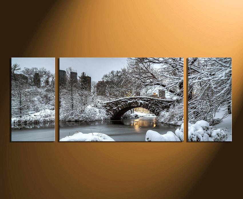 3 Piece Wall Decor, Scenery Wall Art, Snow Canvas Photography, Tree Snow  Home