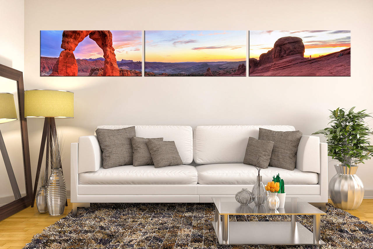 Living Room Canvas Art Part - 37: 3 Piece Wall Art, Living Room Canvas Photography, Landscape Photo Canvas,  Red Large