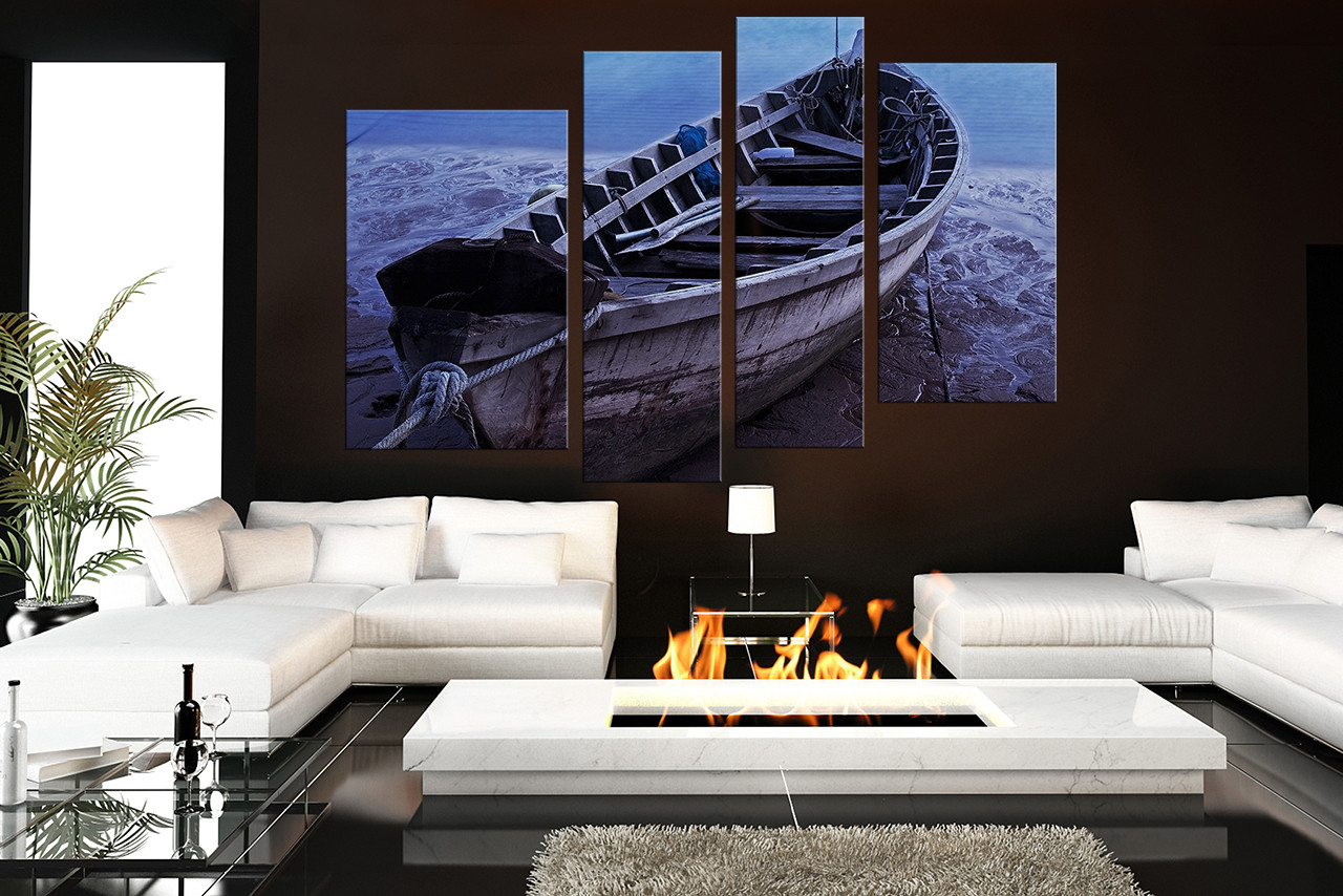 4 Piece Photo Canvas Blue Ocean Large Pictures Ocean