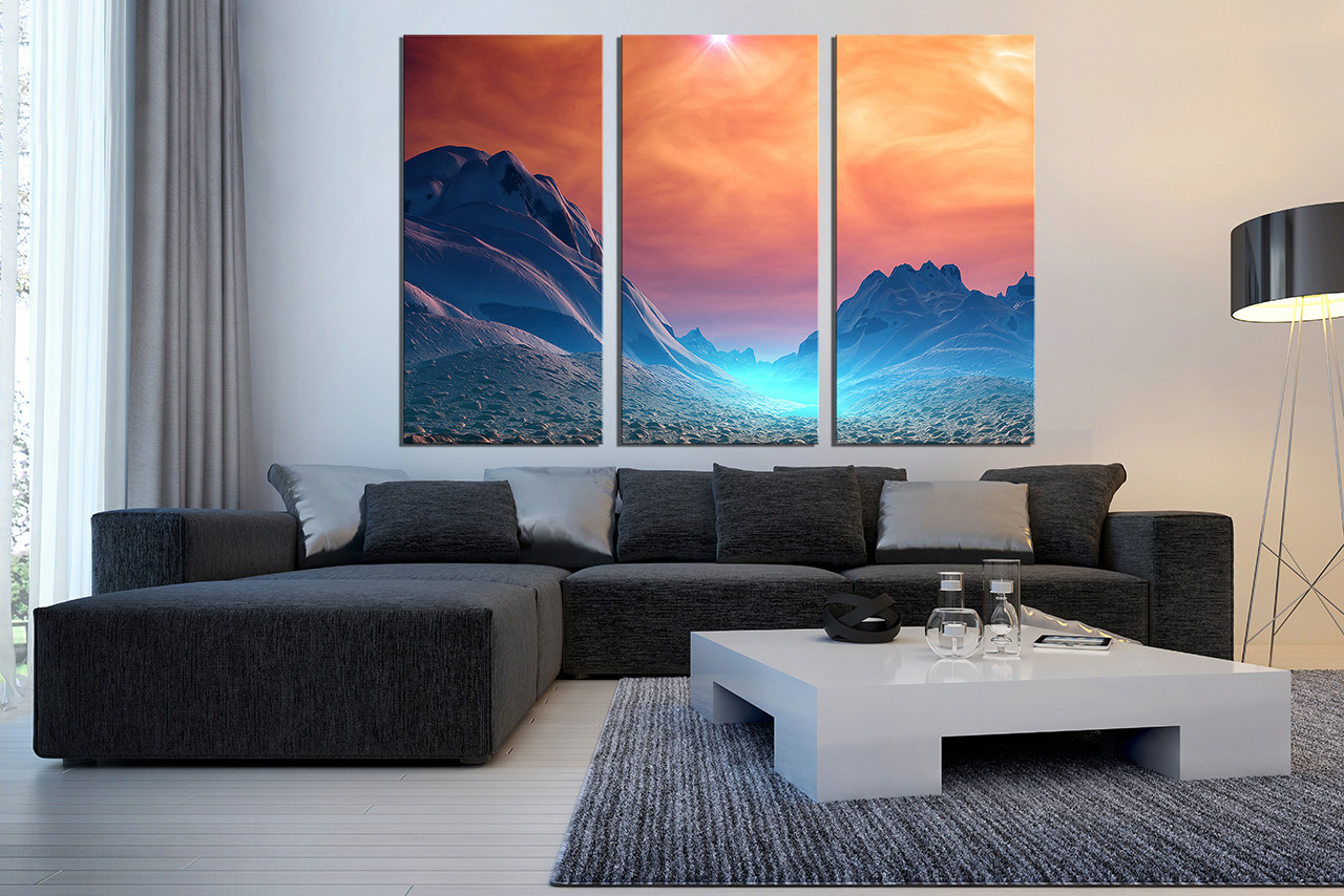 3 Piece Artwork Landscape Canvas Wall Art Scenery Large Pictures