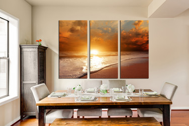 3 Piece Canvas Wall Art, Boat Huge Pictures, Ocean Multi Panel ...
