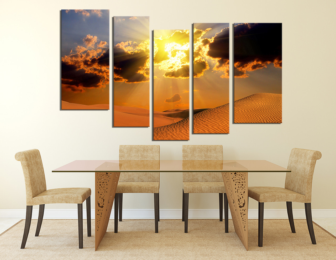 5 piece artwork landscape canvas photography desert multi panel