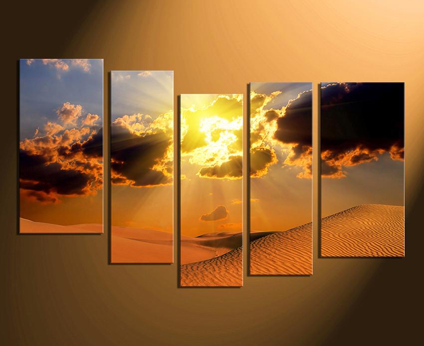 Multi Panel Canvas Wall Art 5 piece artwork, landscape canvas photography, desert multi panel