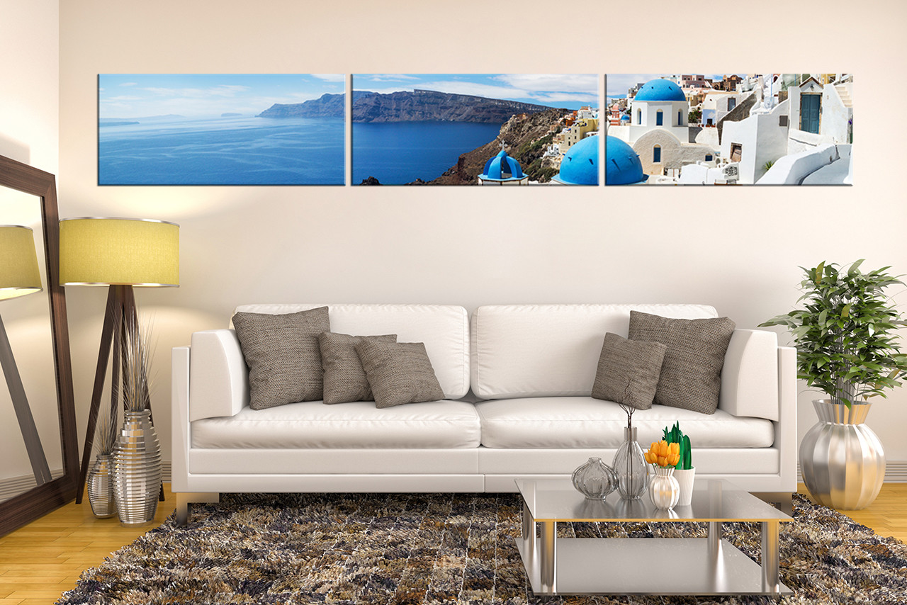 Canvas For Living Room Wall Part - 48: 3 Piece Wall Art, Living Room Group Canvas, Ocean Art, White City Canvas