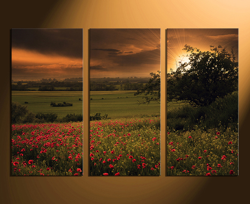 Multi Piece Canvas Wall Art 3 piece canvas wall art, scenery huge canvas art, green canvas