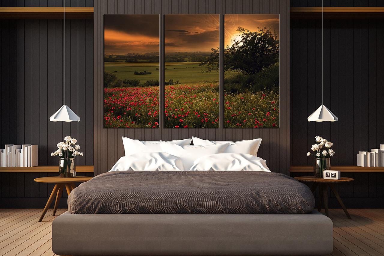 Multi Piece Canvas Wall Art 3 piece canvas wall art, scenery huge canvas art, green canvas