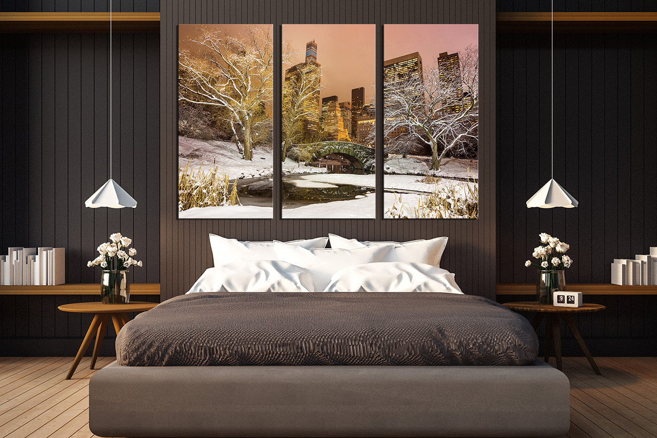 3 piece wall decor, bedroom wall art, scenery canvas print, bedroom huge  canvas