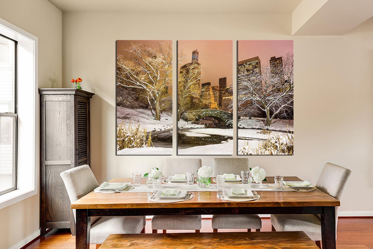3 Piece Art, White City Group Canvas, Greece Multi Panel Canvas ...