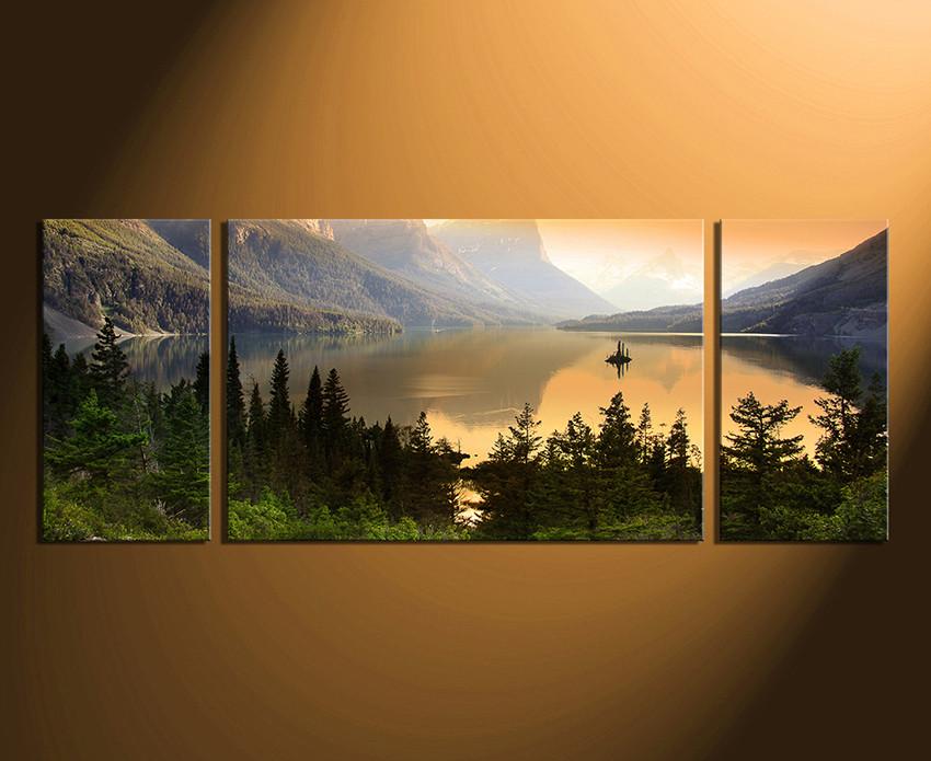 3 piece wall art home decor landscape huge canvas print mountain canvas photography