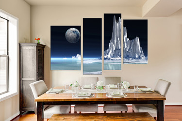 4 piece huge canvas art, bedroom artwork, landscape photo canvas, white huge pictures, earth canvas photography