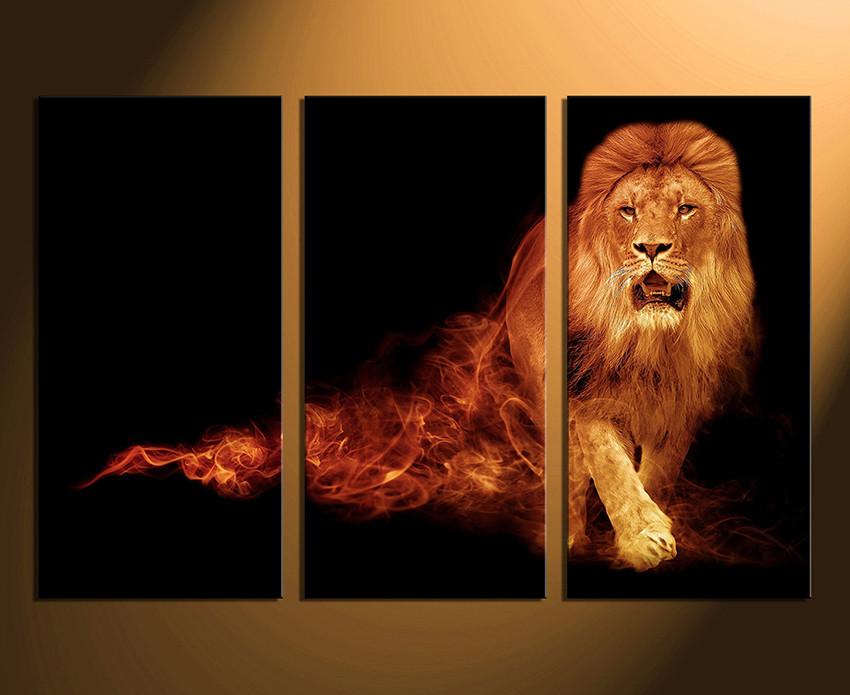 Superbe 3 Piece Huge Canvas Art, Home Decor, Lion Canvas Photography, Wildlife Huge  Canvas