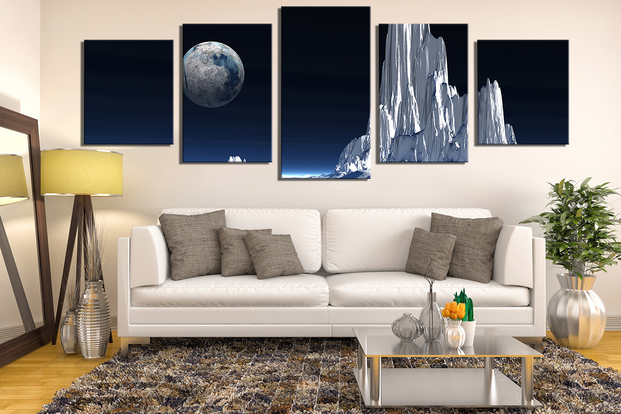 5 piece canvas art prints living room multi panel canvas landscape photo canvas