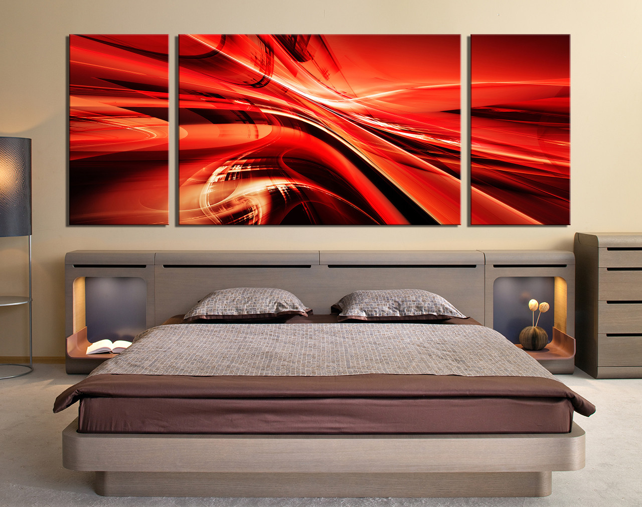 3 piece group canvas modern photo canvas abstract art bedroom large pictures