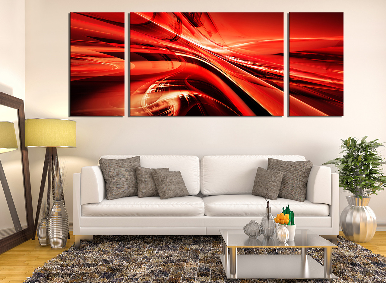 3 piece canvas wall art modern multi panel canvas red canvas 3 piece canvas wall art living room wall art modern wall decor red amipublicfo Image collections