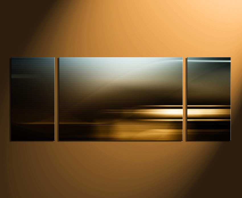 Panoramic Wall Art 3 piece wall decor, abstract multi panel canvas, panoramic canvas