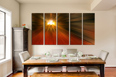 Orange Wall Art 5 piece abstract wall art