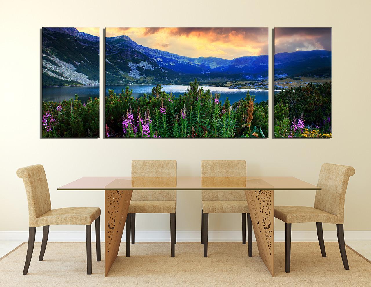 3 Piece Canvas Wall Art, Dining Room Wall Decor, Landscape Multi Panel  Canvas,