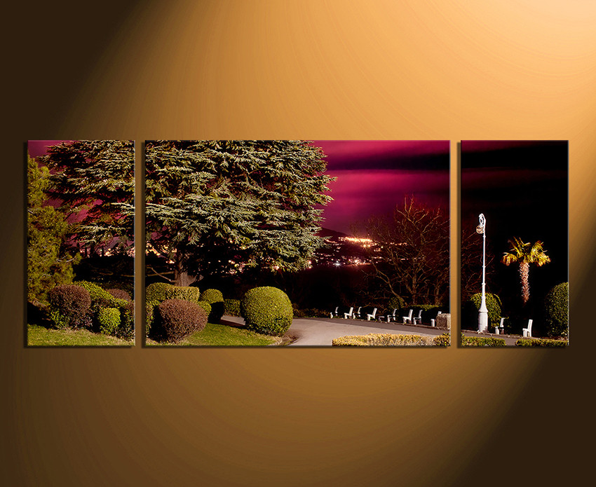 3 Piece Canvas Wall Art, Home Decor, Scenery Huge Pictures, Green Artwork,