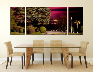 3 piece large pictures, dining room large canvas, scenery art, green wall decor, nature panoramic multi panel art