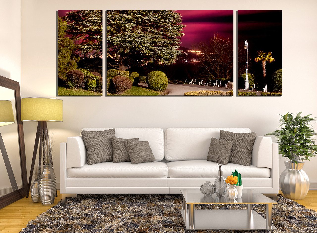 3 Piece Group Canvas Living Room Art Scenery Wall Decor