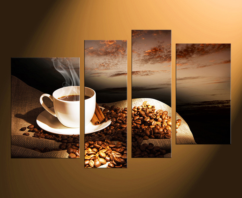 4 piece canvas wall art coffee beans huge canvas print coffee