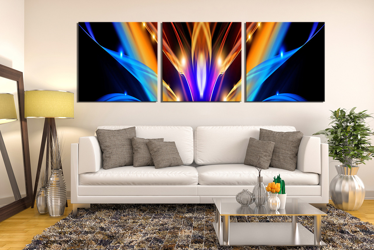 3 Piece Photo Canvas, Modern Canvas Wall Art, Abstract