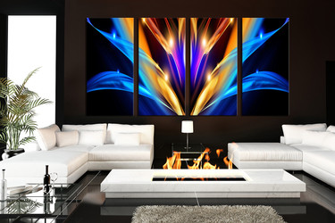 4 piece canvas wall art, modern wall art, colorful wall decor, abstract canvas print,  colorful huge canvas print