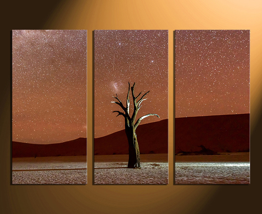 Tree Canvas Wall Art 3 piece canvas wall art, brown huge canvas print, tree canvas