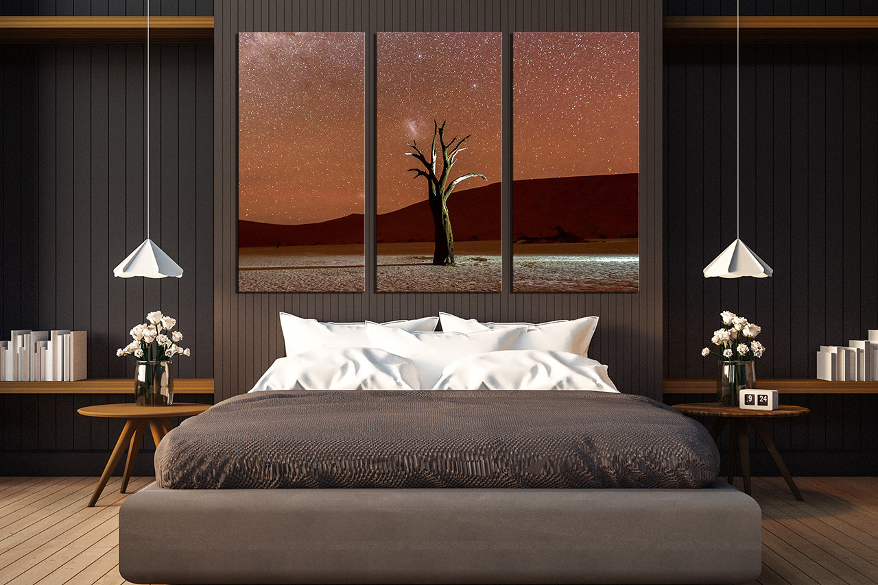 3 piece large canvas, bedroom canvas photography, landscape canvas print,  brown photo canvas