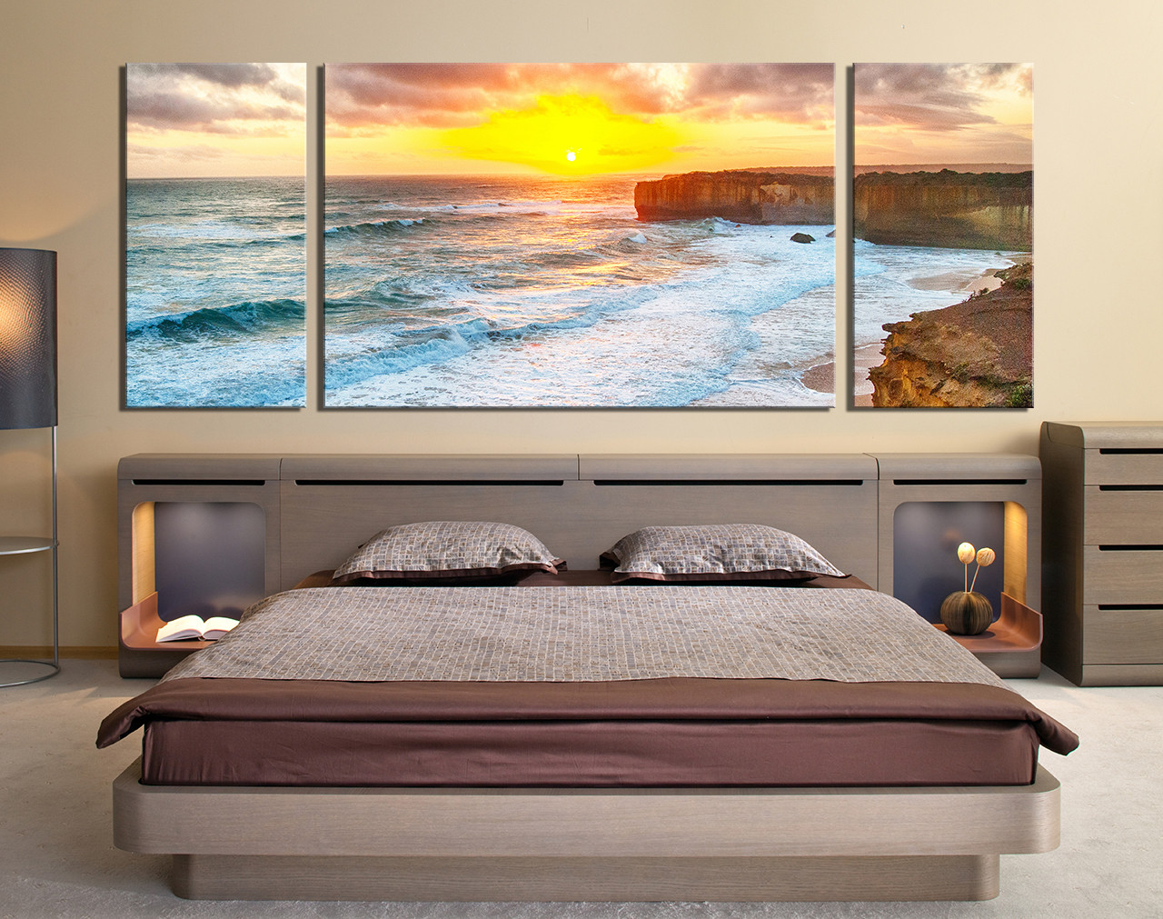 3 piece photo canvas ocean huge canvas print sea multi panel