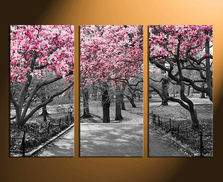 3 Piece Group Canvas, Scenery Huge Canvas Print, Black and White ...
