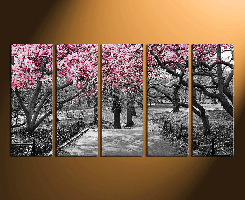 5 piece canvas wall art home decor scenery canvas print grey artwork & 5 Piece Canvas Wall Art Grey Huge Canvas Print Scenery Canvas ...