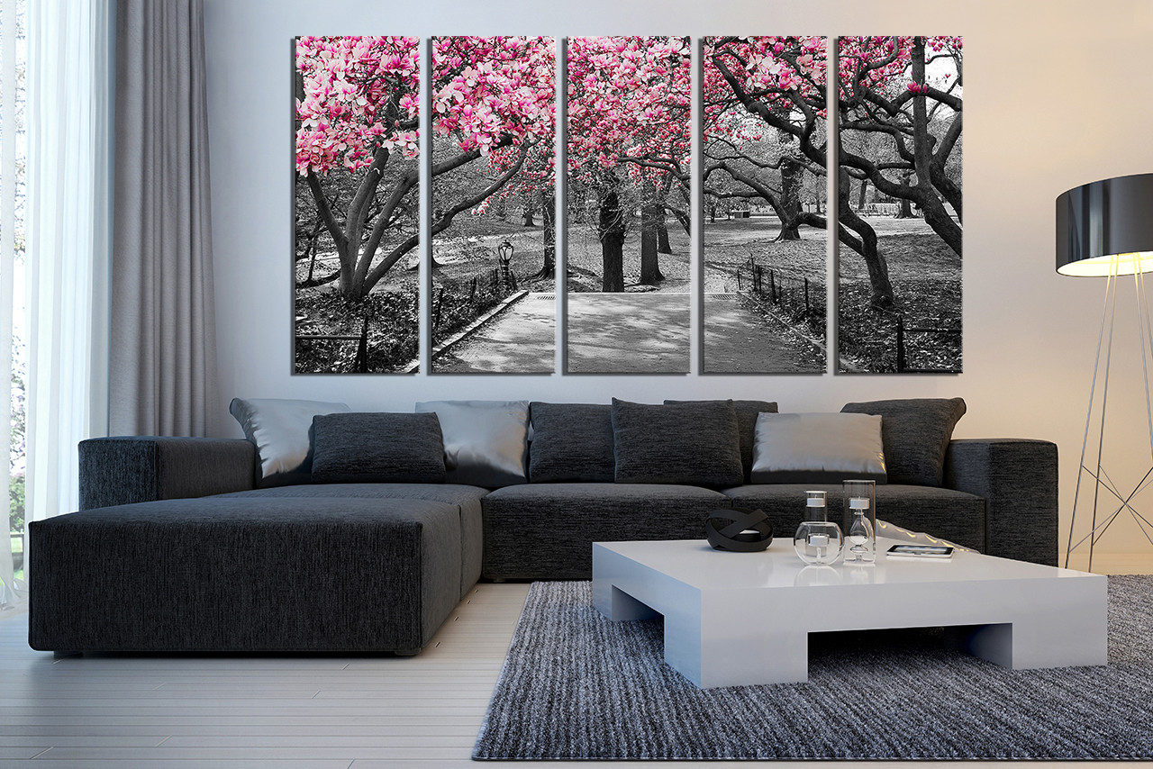 Superbe 5 Piece Canvas Photography, Living Room Multi Panel Canvas, Scenery Group  Canvas, Grey