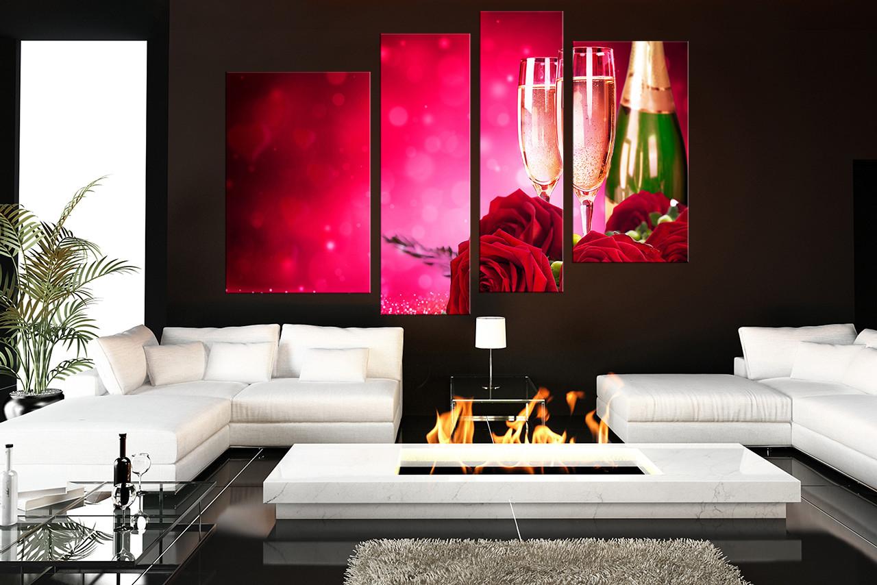 Attractive Living Room Canvas Art Part - 7: 4 Piece Canvas Print, Living Room Canvas Wall Art, Living Room Group Canvas,