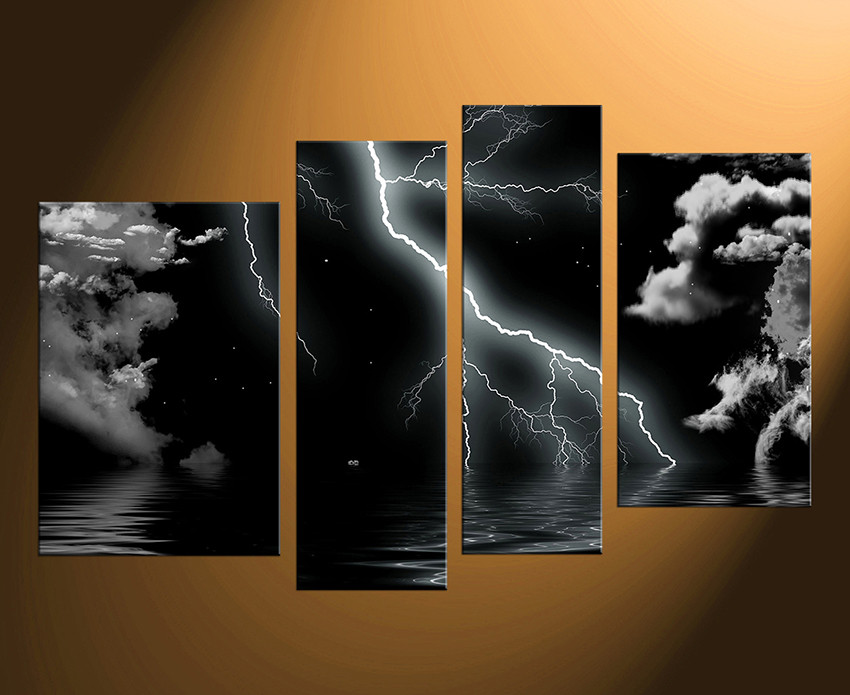 4 piece canvas wall art abstract abstract pictures home decor black wall art