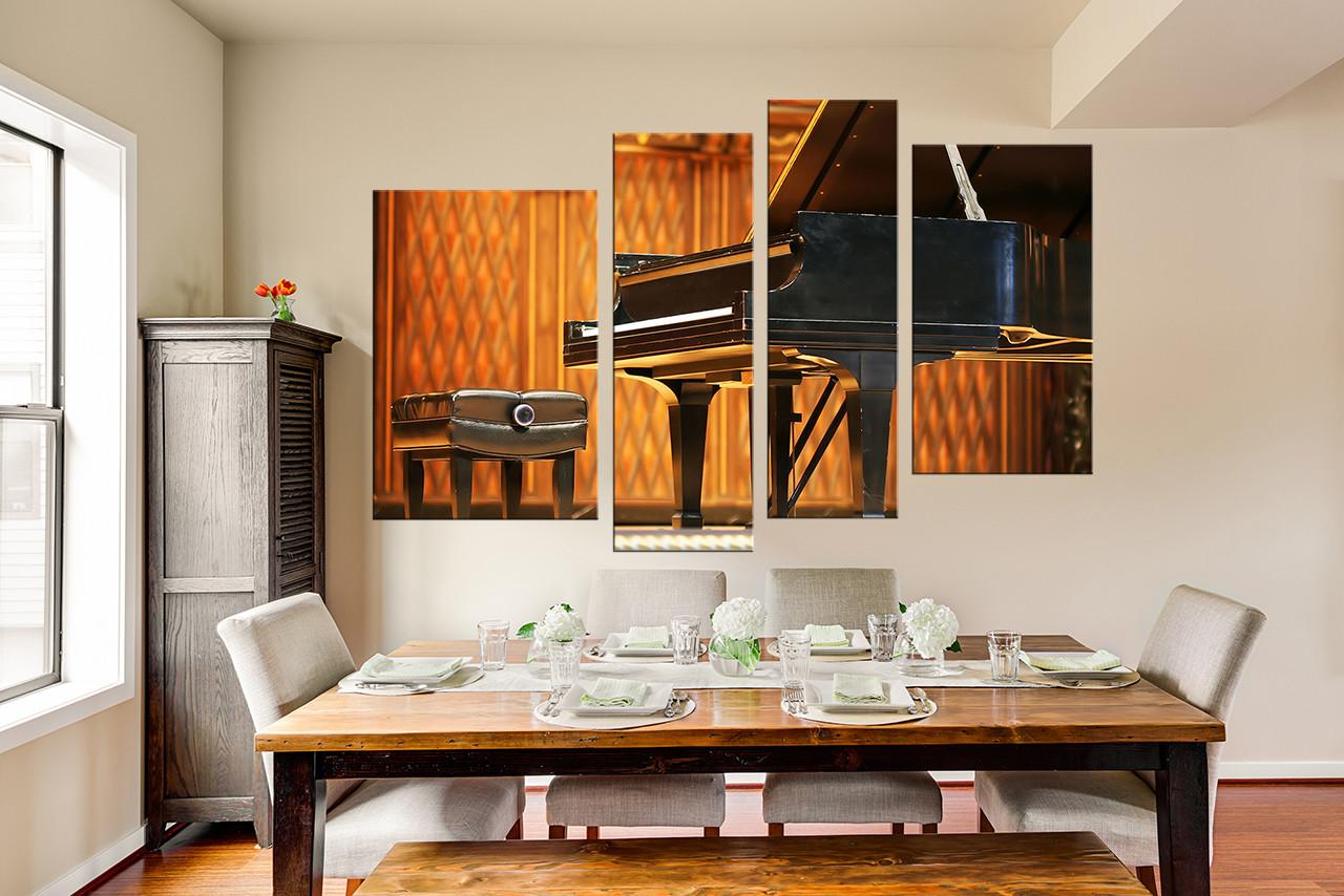 living room art prints%0A   Piece Canvas Wall Art  Music Huge Canvas Print  Musical Instrument