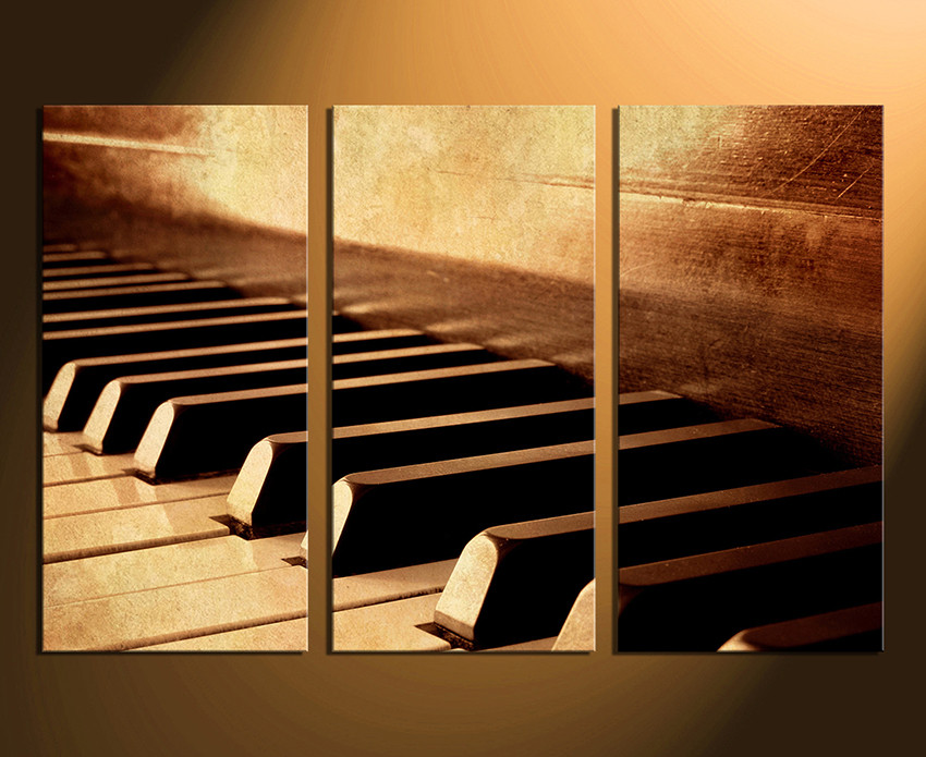 Multi Panel Canvas Wall Art 3 piece canvas wall art, musical instrument canvas photography
