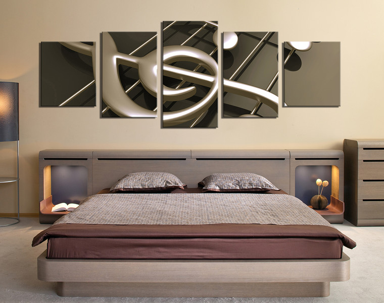 5 piece multi panel canvas panoramic canvas wall art music huge