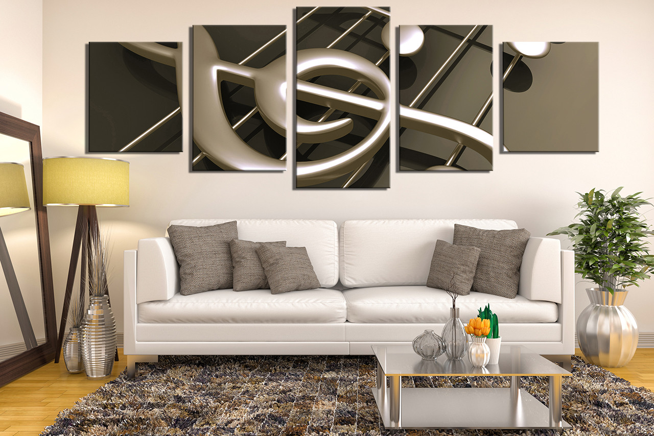 5 piece multi panel canvas panoramic canvas wall art for Room decoration products