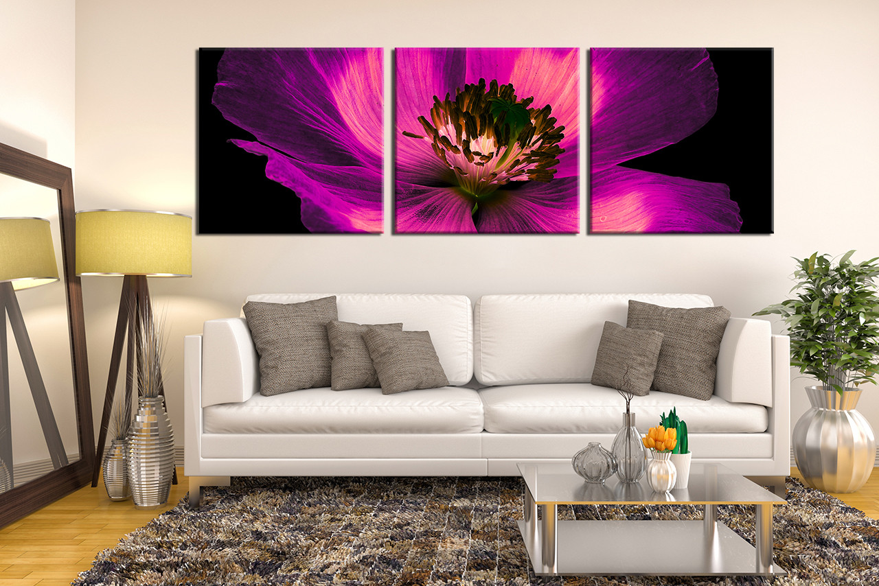 3 piece group canvas purple flowers multi panel art floral 3 piece photo canvas panoramic multi panel canvas purple multi panel canvas floral amipublicfo Image collections