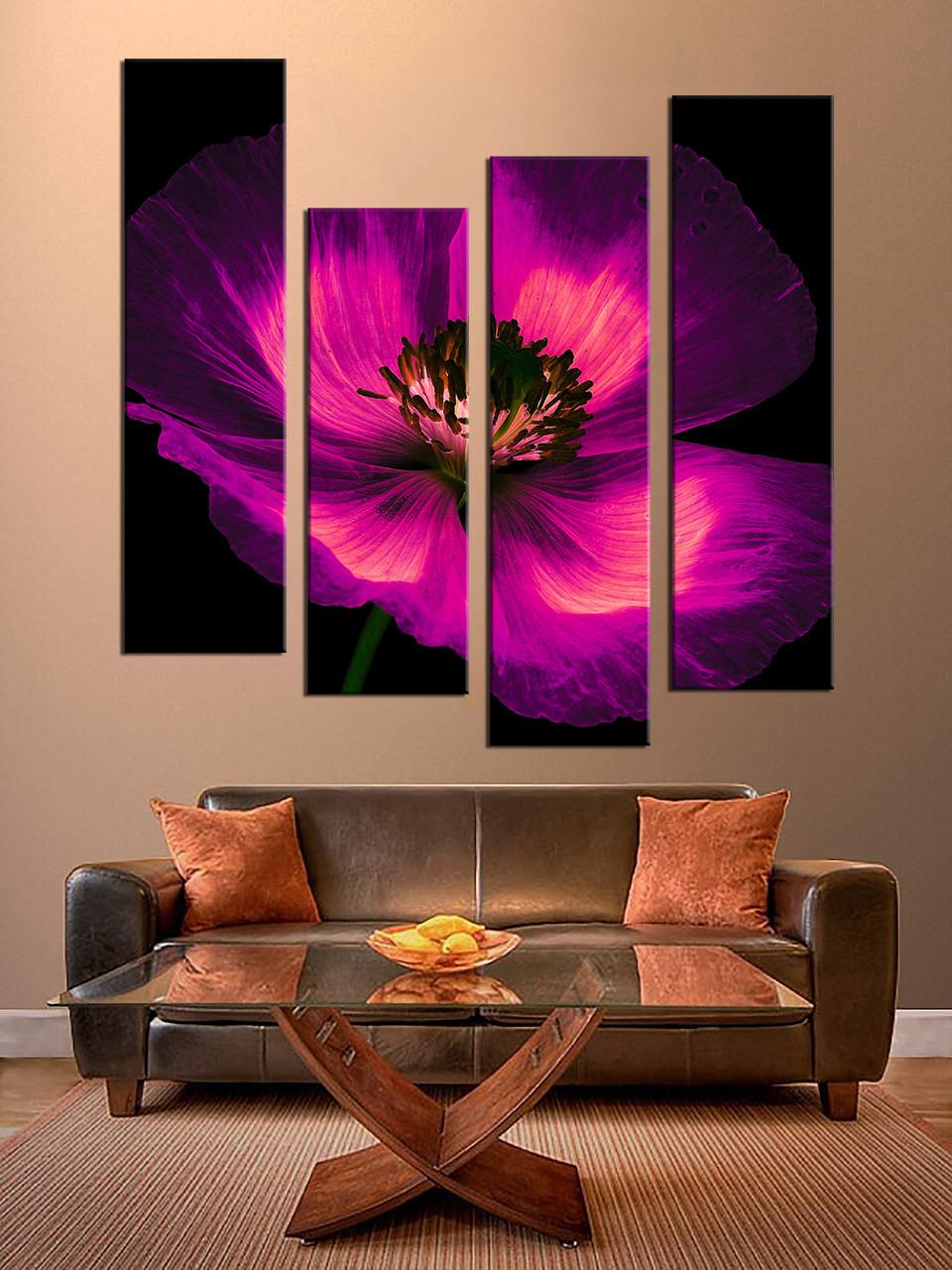 4 piece wall art purple flowers multi panel canvas floral canvas 4 piece wall art purple flowers multi panel canvas floral canvas photography panoramic artwork flowers decor floral artwork amipublicfo Image collections