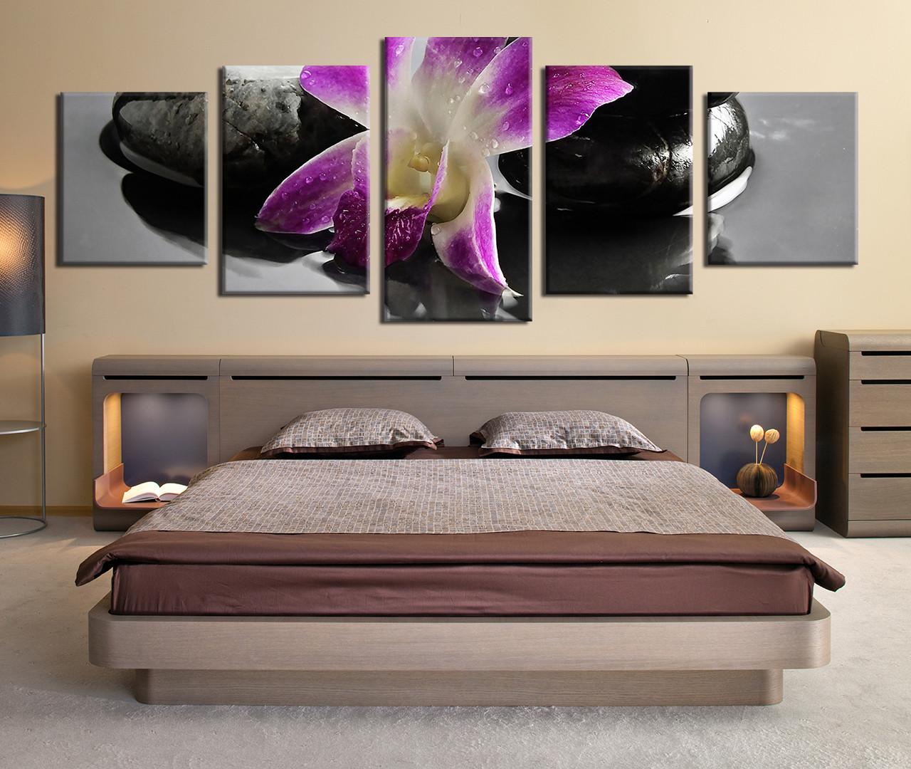 5 piece large canvas purple floral large pictures flowers canvas 5 piece canvas prints floral canvas prints flower wall art flower canvas print amipublicfo Image collections