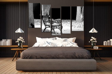 5 piece canvas photography, bedroom canvas wall art, modern pictures, black and white canvas photography, grey art