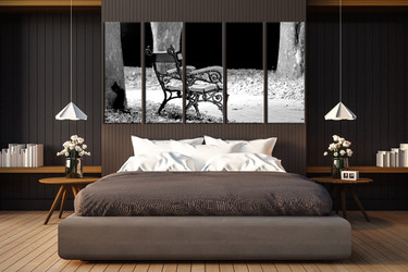 5 piece canvas art, bedroom canvas photography, black and white  pictures, modern huge canvas art, black and white modern wall art