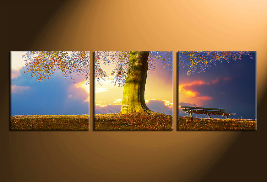 Tree Canvas Wall Art 3 piece canvas wall art, tree huge pictures, autumn multi panel
