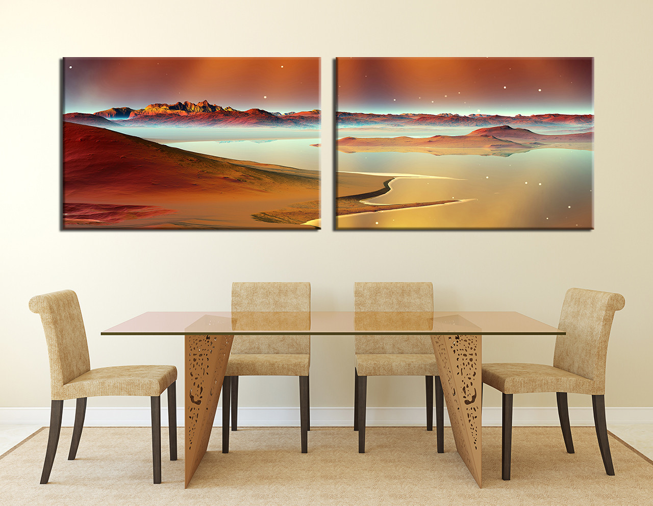 2 piece photo canvas dining room canvas photography sea canvas wall art ocean · 2 piece huge canvas print