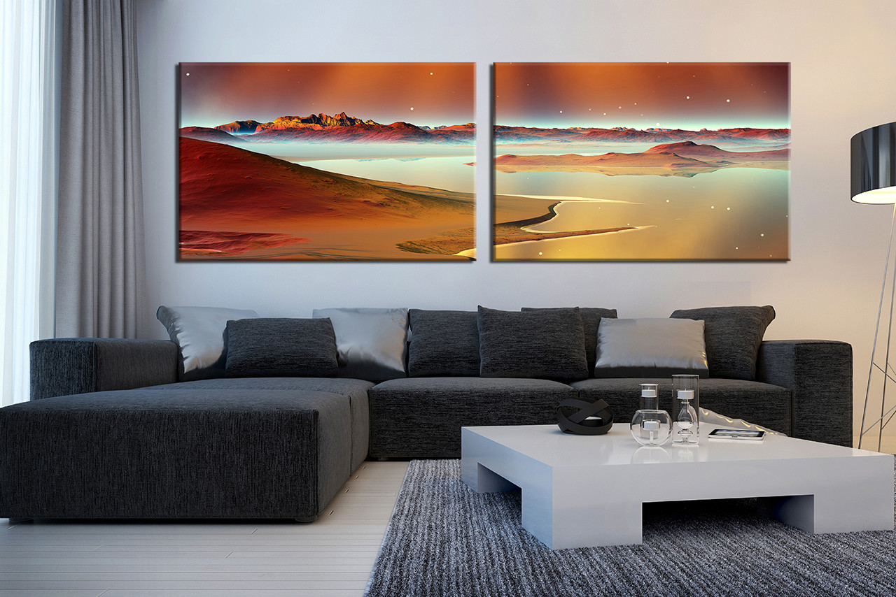 2 piece huge canvas print living room multi panel canvas sea photo canvas