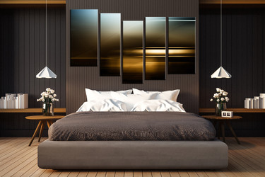 5 piece large pictures, bedroom artwork, abstract multi panel art, abstract canvas photography